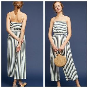 NWT Anthropologie • Maeve Striped Jumpsuit